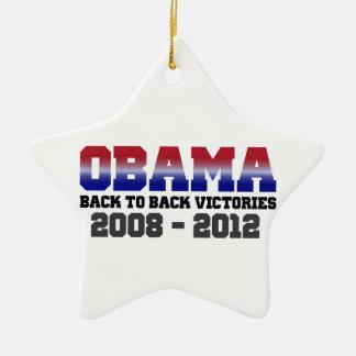 Obama Back-to-Back Victory 2008 - 2012 Ornament