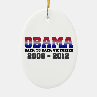 Obama Back-to-Back Victory 2008 - 2012 Christmas Ornament