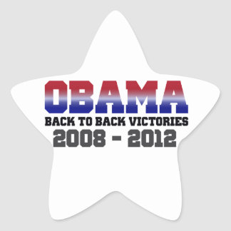 Obama Back-to-Back Victory 2008 - 2012 Star Sticker