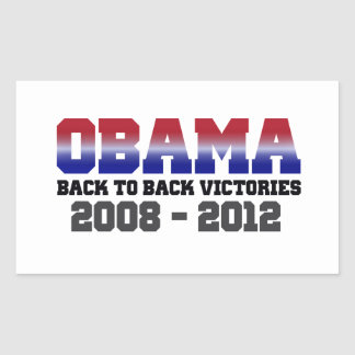 Obama Back-to-Back Victory 2008 - 2012 Rectangular Stickers