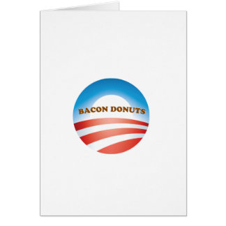 OBAMA BACON DONUTS CARDS