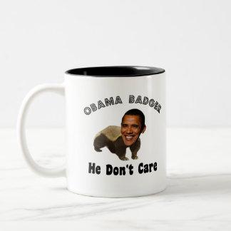 Obama Badger Obama Political Two-Tone Coffee Mug