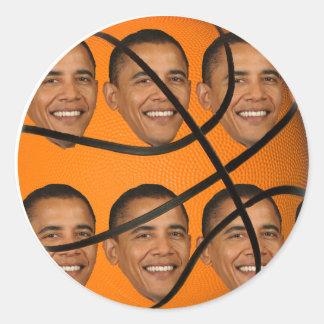 Obama Ball Classic Round Sticker