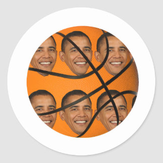 Obama Ball Classic Round Sticker