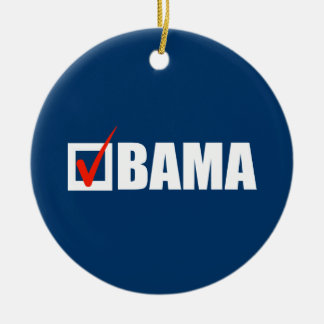 OBAMA BALLOT Double-Sided CERAMIC ROUND CHRISTMAS ORNAMENT