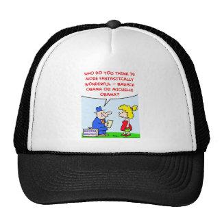 Obama Barack Michelle wonderful polls Trucker Hat