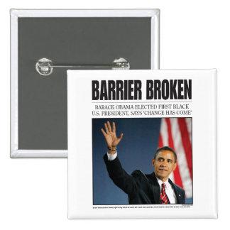 Obama: Barrier Broken Button
