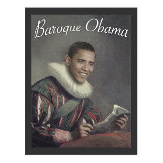 Obama barroco postal