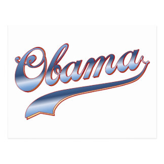 Obama Baseball Style Swoosh Tees Gifts Postcard