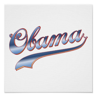 Obama Baseball Style Swoosh Tees Gifts Posters
