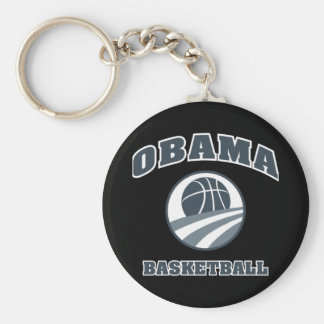 Obama Basketball Grey v1 Keychain