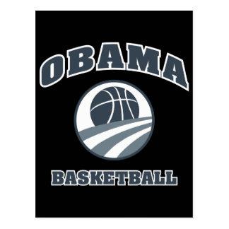 Obama Basketball Grey v1 Post Cards