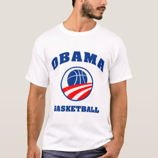 Obama basketball red white and blue shirt