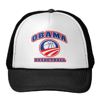 Obama Basketball red white blue v3 Trucker Hat