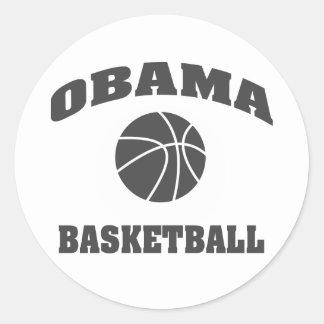 Obama Basketball standard type sticker - grey
