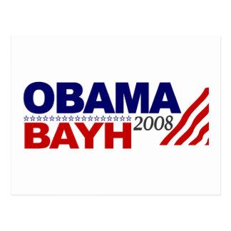 Obama Bayh 2008 Postcard