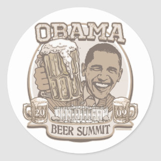 Obama Beer Summit Nonpartisan Gear Classic Round Sticker