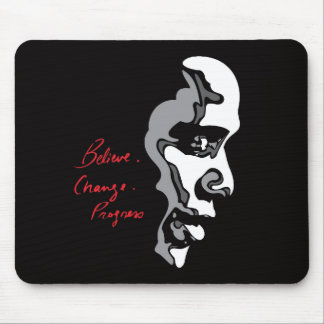 Obama: Believe Change Progress Mouse Pads