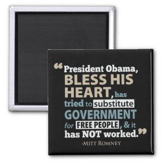 Obama bendice su imán de la cita de Romney del cor