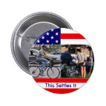 Obama Bicycle Palin Motorcyle Pinback Buttons