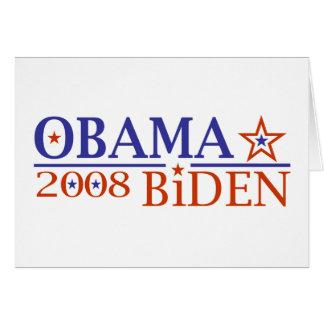 Obama Biden 08 Card