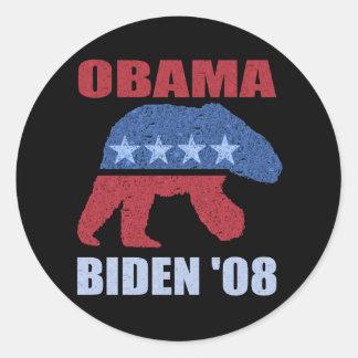 Obama Biden '08 Polar Bear Bumper Sticker Democrat