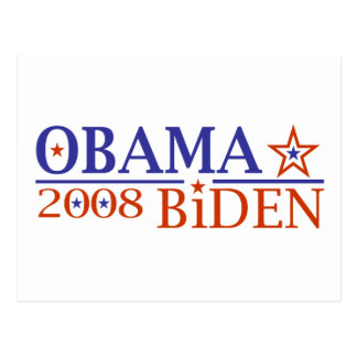 Obama Biden 08 Postcard