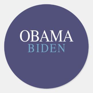 OBAMA / BIDEN 08 ROUND STICKER