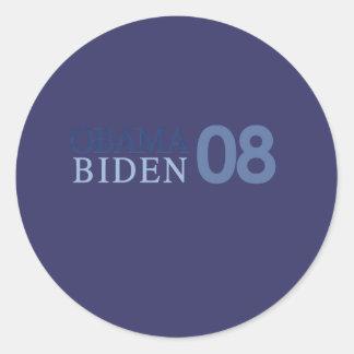 Obama Biden '08 Round Stickers