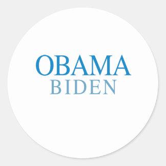 OBAMA / BIDEN 08 ROUND STICKERS