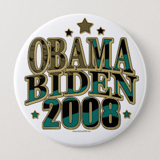 Obama Biden '08 Ticket Pinback Button