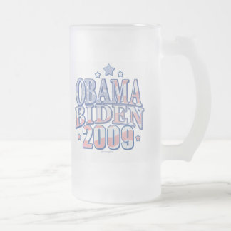 Obama Biden '09 Graphic Gear Frosted Glass Beer Mug