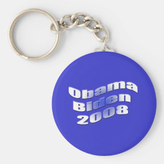 obama biden 2008 basic round button keychain