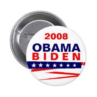 OBAMA-BIDEN, 2008 2 INCH ROUND BUTTON