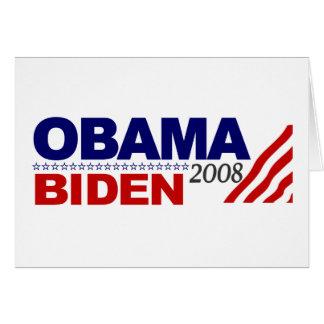 Obama Biden 2008 Card