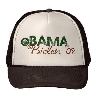 Obama Biden 2008 (edición verde) Gorro De Camionero