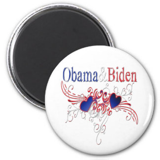 Obama Biden 2008 Patriotic Hearts Magnet