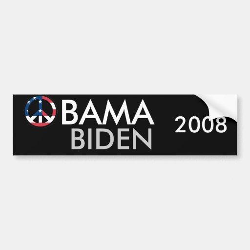Obama Biden 2008 Peace Bumper Sticker