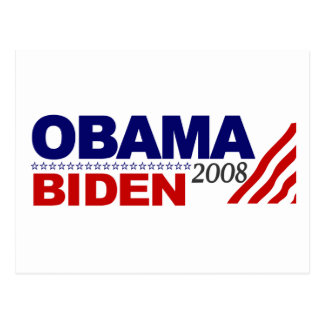 Obama Biden 2008 Post Card