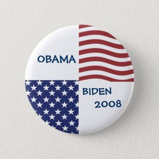 OBAMA - BIDEN 2008 Presidential Race Button
