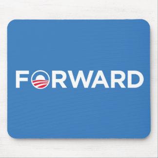 Obama Biden 2012 adelante (blanco en azul claro) Alfombrilla De Ratones