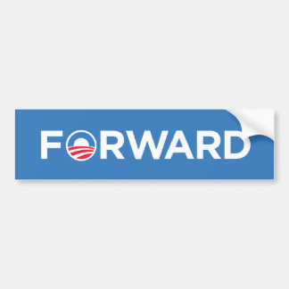 Obama Biden 2012 adelante (blanco en azul claro) Etiqueta De Parachoque