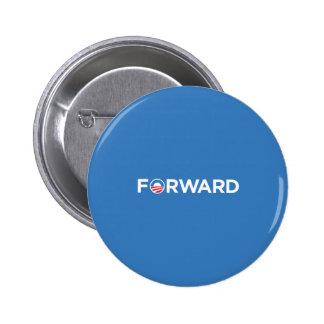 Obama Biden 2012 adelante (blanco en azul claro) Pin Redondo De 2 Pulgadas