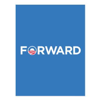 Obama Biden 2012 adelante (blanco en azul claro) Postales