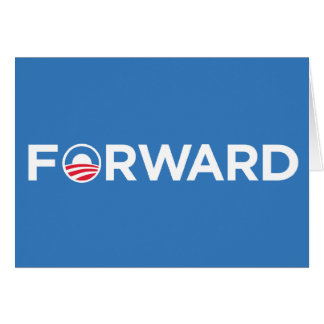 Obama Biden 2012 adelante blanco en azul claro Tarjeta