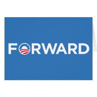 Obama Biden 2012 adelante (blanco en azul claro) Tarjeta De Felicitación