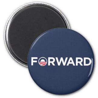 Obama Biden 2012 adelante (blanco en azul marino) Imán Redondo 5 Cm