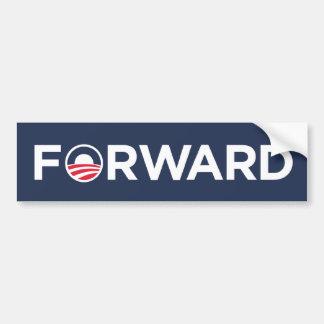 Obama Biden 2012 adelante (blanco en azul marino) Pegatina Para Auto