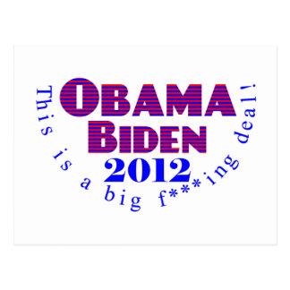 Obama Biden 2012 BFD Postcard