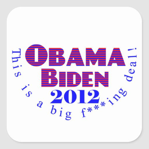 Obama Biden 2012 BFD Sticker